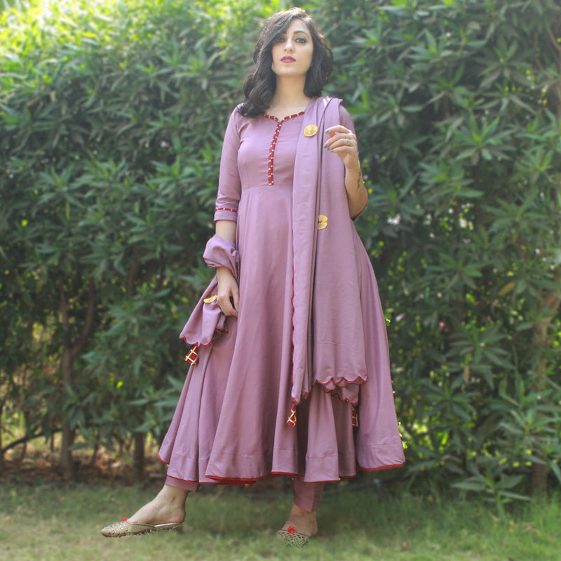 cotton kurta with pent and dupatta dress