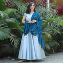 long party wear gown with dupatta