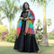 black panther long gown with dupatta