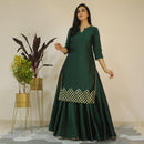 apple green kurta lehenga dress younari
