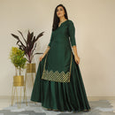 apple green dress younari