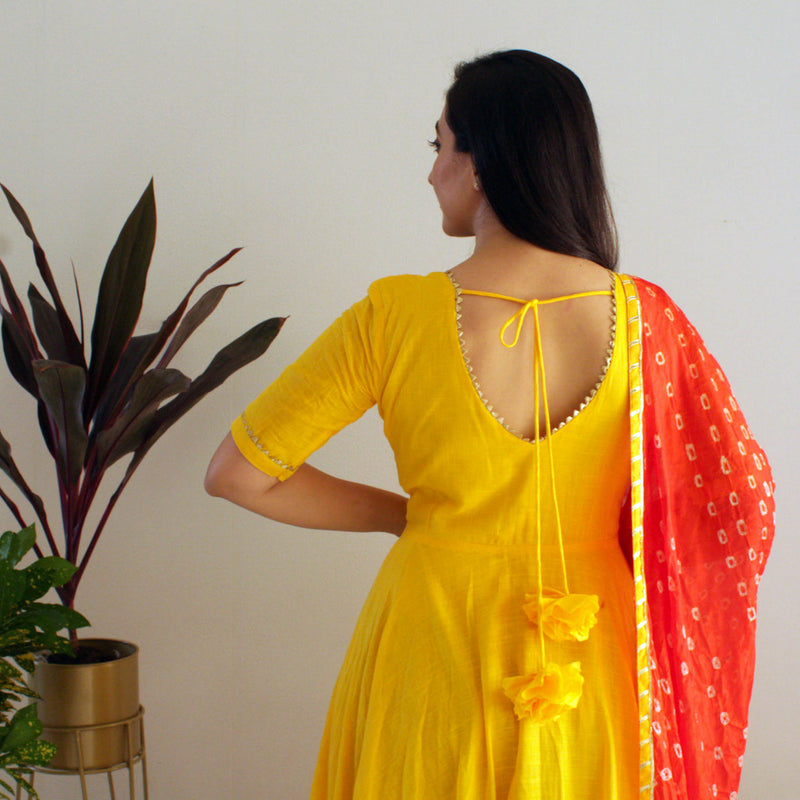 Ready to wear Yellow Honey Gown