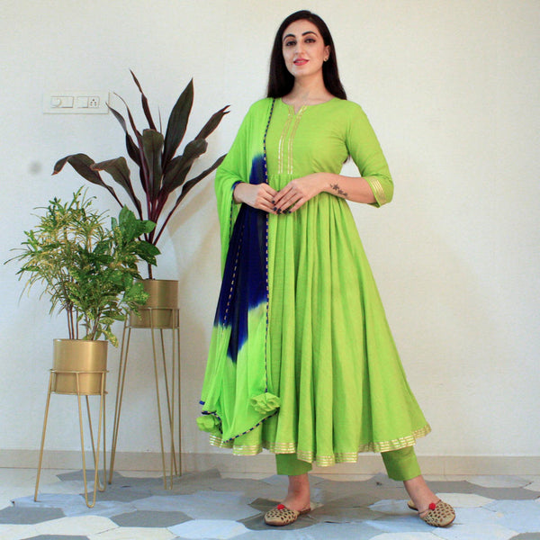 Ready to wear Kiwi Green suit set
