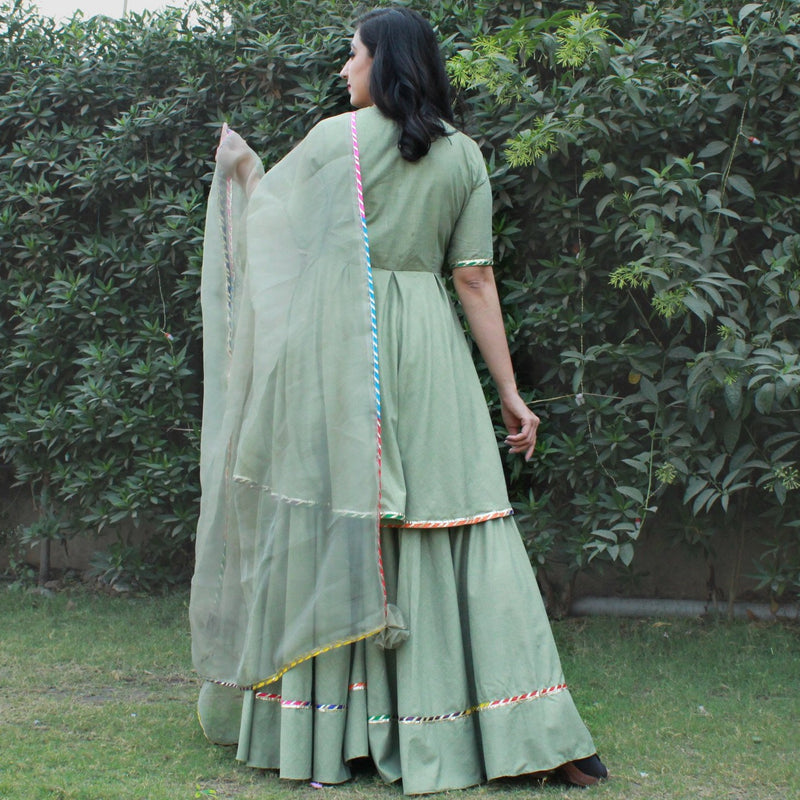 cotton sharara kurti with dupatta