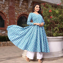 flairy cotton kurta with plazo suit bunaai suit