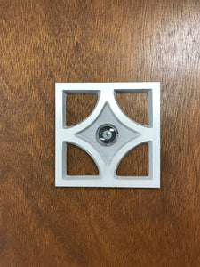 Mid Century Breeze Block Door Peephole Viewer