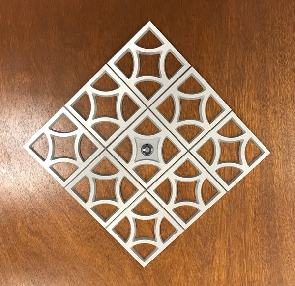 Mid Century Breeze Block Decorative Plate