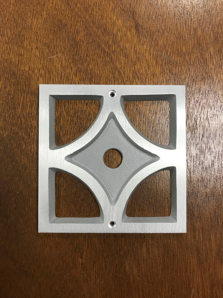 Mid Century Breeze Block Doorbell Button