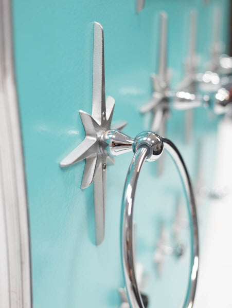 Atomic Starburst Mid Century Towel Ring