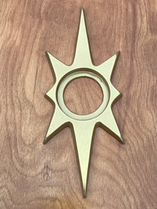 "10"" Atomic Starburst Doorknob Backplate Escutcheon"
