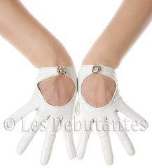 White Leather Driving Gloves