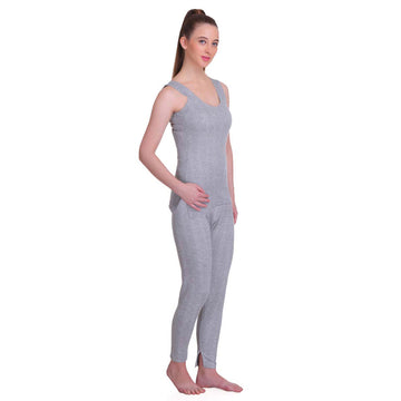 T.T. Women Top - Pyjama Set Thermal - Grey Melange