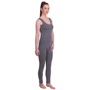 T.T. Women Top - Pyjama Set Thermal - Anthra