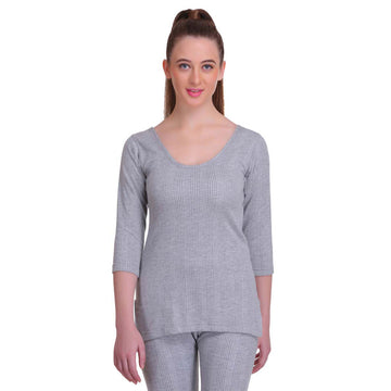 T.T. Women Hotpot Elite 3/4th  Slip Thermal - Grey Melange