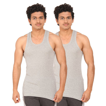 T.T. Men  Derby Grey Vest (Pack Of 2)
