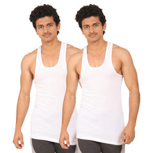 T.T. Men Derby White Vest (Pack Of 2)
