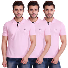 HiFlyers Men T-Shirts Polo Pink Pack of 3