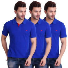 HiFlyers Men T-Shirts Polo Blue Pack of 3