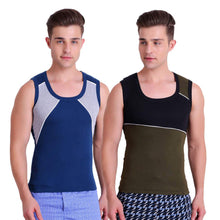 TT Men Gym Vest Pack of 2 (Royal Blue - Green)
