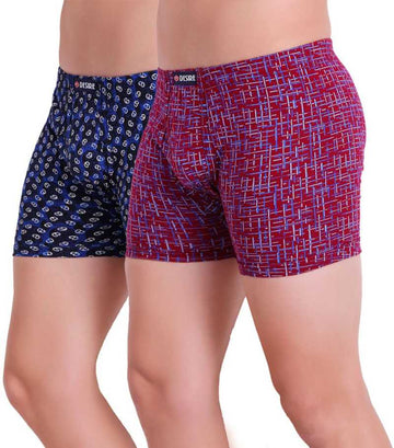 T.T. Men Trunk Pack Of 2 (Pink - Blue)