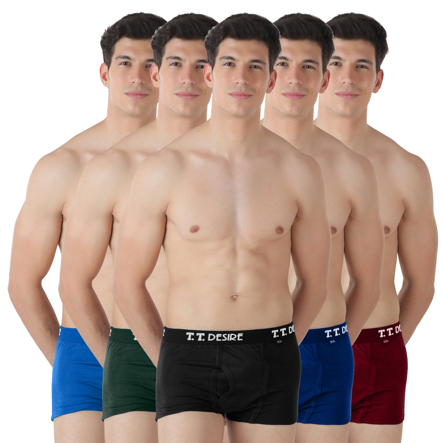 T.T. Mens Desire Fashion Trunk Pack Of 5