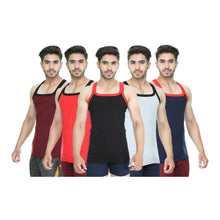 T.T. Mens Addy Gym Vest Pack of 5 Assorted