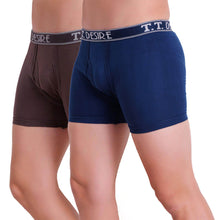 T.T. Men Desire Fl Trunk Pack Of 2 (Blue - Brown)