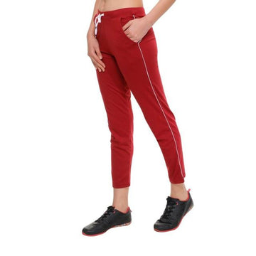 T.T. Womens Maroon Track Pant