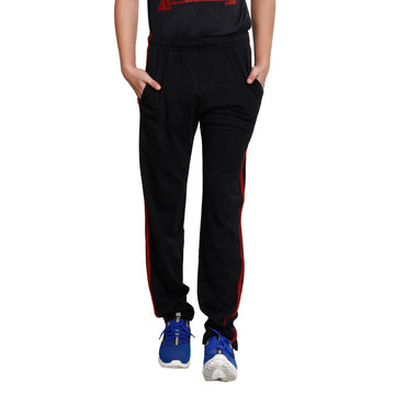 T.T. Men Cotton Track Pants - Black