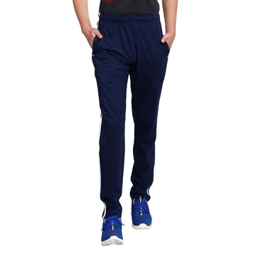 T.T. Men Cotton Track Pants - Blue