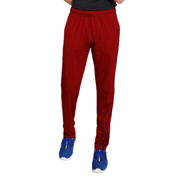 T.T. Men Cotton Track Pants - Maroon