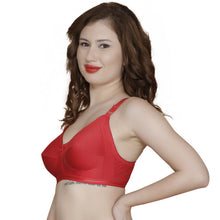 T.T. Women Cotton With Spandex Elastic Bra Pack Of 2 Red-Skin