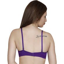 T.T. Women Paded Moulded Cup Bra Pack Of 2 Purple-White