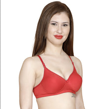 T.T. Women Molded Cup Bra Pack Of 2 Black-Red