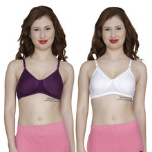 T.T. Women Orignal Molded Bra Pack Of 2 Purple-White