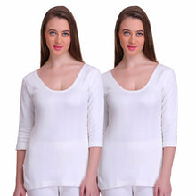 T.T. Women Hotpot Elite 3/4Th Slip Thermal Pack Of 2- White