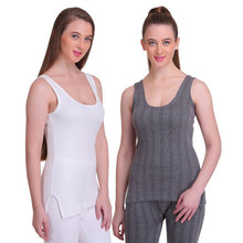 T.T. Women Hotpot Elite Top Thermal Anthra - White (Pack of 2)