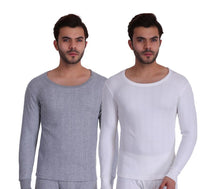 T.T. Men Hotpot Elite Top Thermal Grey Melange - White (Pack of 2)