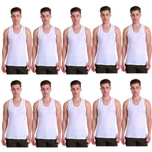T.T. Mens HiFlyers Green Vest Pack Of 10 Assorted