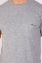 HiFlyers men Slim fit Solid Premium RN tshirts Grey Melange