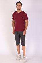 Hiflyers Men Slim Fit Solid Pack Of 3 Premium RN T-Shirt Black::White::Maroon