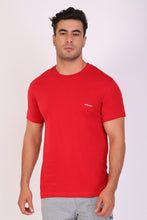 HiFlyers Men Slim Fit Solid Premium Rn Tshirts Red
