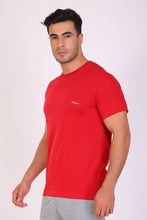 Hiflyers Men Slim Fit Solid Pack Of 5 Premium RN T-Shirt Deep Atlantic::Red::Gold ::Black::White