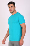 Hiflyers Men Slim Fit Solid Pack Of 3 Premium RN T-Shirt Teal Blue::Eden Green::Ted