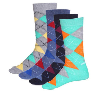HiFlyers Men Formal socks pack of 4