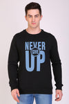 Hiflyers Full Sleeve Printed Men Sweatshirt - Black