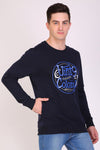 Hiflyers Full Sleeve Printed Men Sweatshirt-Navy