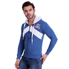 HiFlyers Full Sleeve Solid Men Sweatshirt - Blue