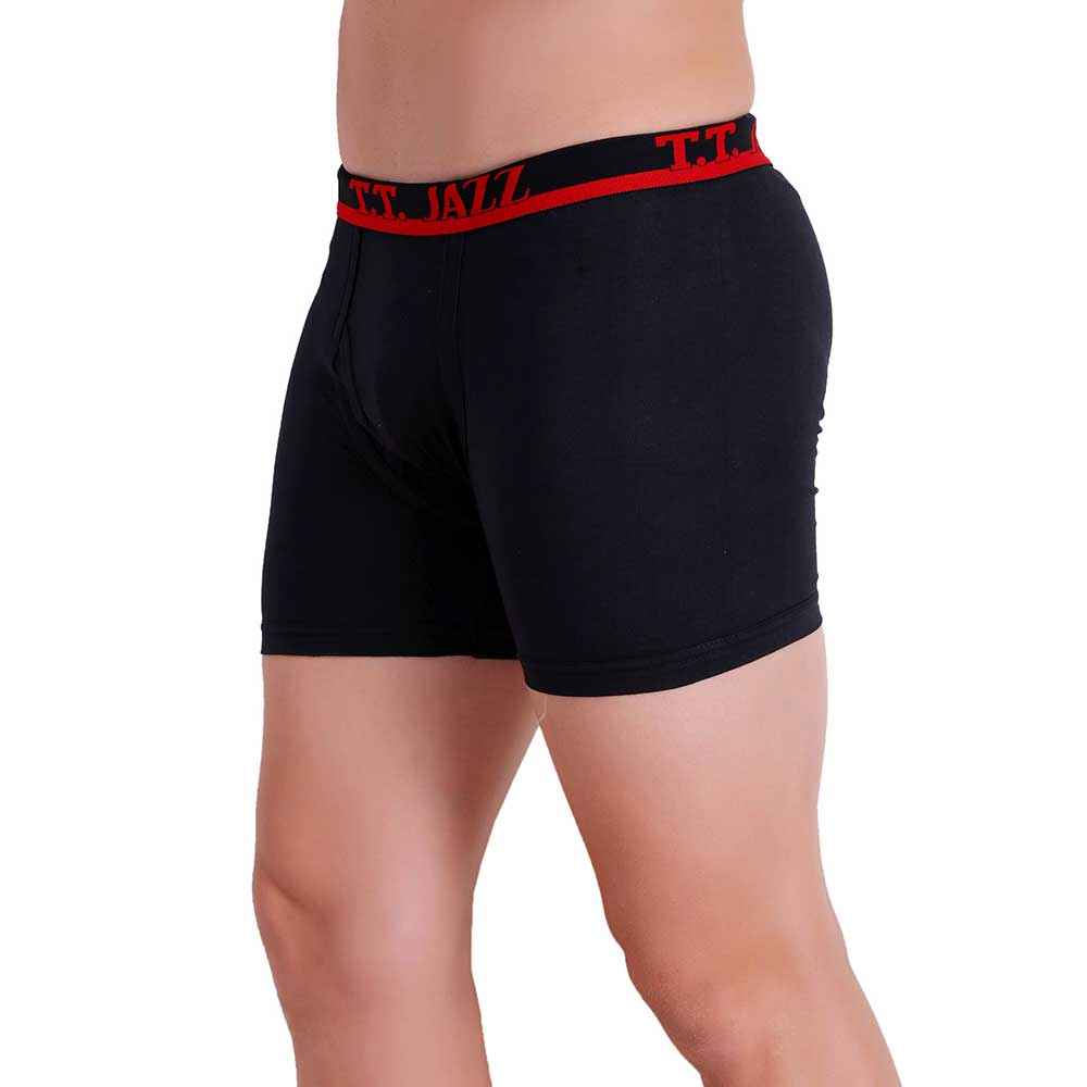 T.T. Men Jazz TE Trunk Pack of 2 (Black - Red)