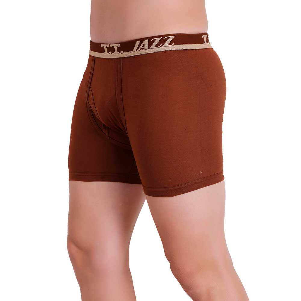 T.T. Men Jazz TE Trunk Pack of 3 (Rust - D.Brown - Blue)
